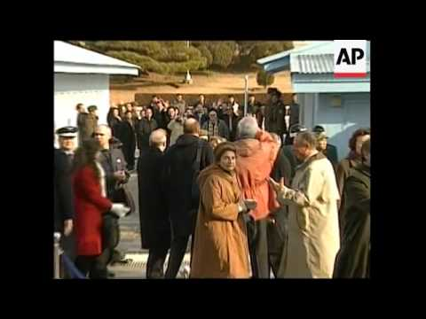 EU delegation crosses demilitarized zone between North and South Korea