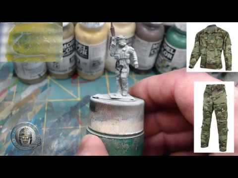 Speed Painting 28mm Modern Multi Cam Camouflage Pattern