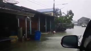 """热带风暴""""帕布""""登陆泰国,造成多处地方淹水!"""