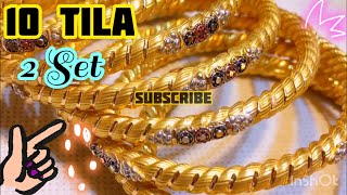 1 Tola Gold Price In Pakistan Two Set Heavy Weight Pipe Gold Bangles 21k