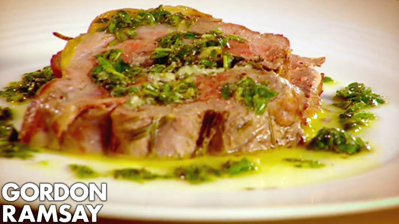 Leg of lamb with goats cheese and mint gordon ramsay youtube ccuart Gallery