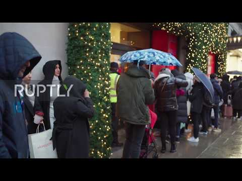 UK: Long Queues As Londoners Hit Stores For Boxing Day Sales