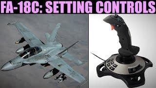 FA-18C Hornet: (Out Of Date) Setting Joystick Controls   DCS WORLD