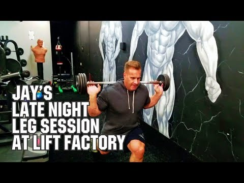 JAY CUTLERS LATE NIGHT LEG WORKOUT AT THE LIFT FACTORY.