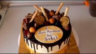 Крем Чиз  Выравнивание торта кремом  Шоколадная глазурь для торта