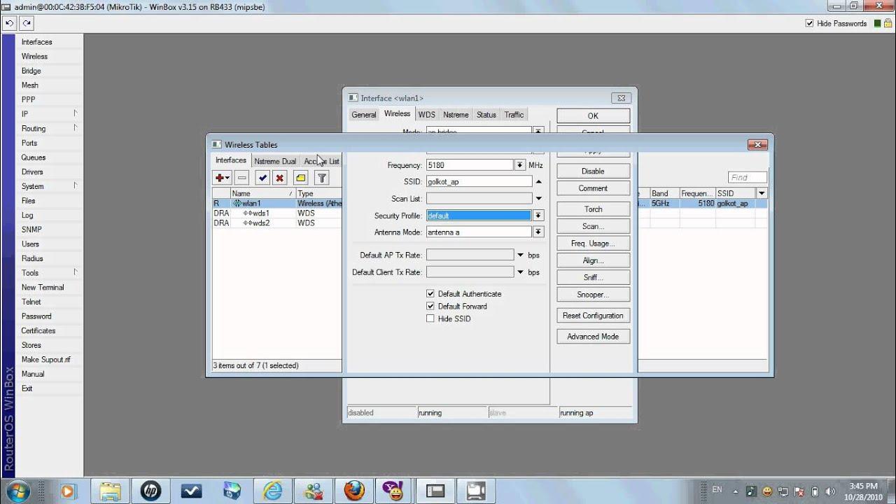 configuring mikrotik access point