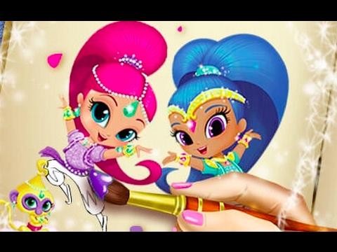 969eee9495 Shimmer and Shine Coloring Book - Coloring Games for Girls | Online Games | Kids  Games