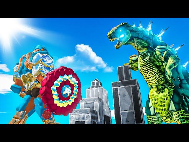 Remastered GODZILLA Destroys Avengers City - Animal Revolt Battle Simulator (ARBS)