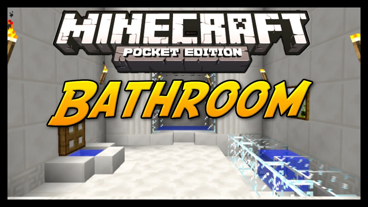Minecraft Pocket Edition Bathroom Ideas : Minecraft pocket edition tutorial how to build a