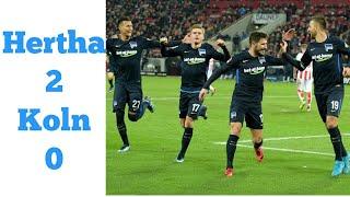 Hertha vs Koln 2 - 0 All goals and extended highlights