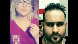 تحدي فوق النا خل بين العراقي محمد اكرم والتونسيه اشراف شاهد ونطينا رايك 👏🏻❤️
