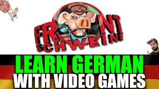 LEARN GERMAN WITH GAMES! 🎮 Let's Play 'Frontschweine' / 'Hogs Of War' (PS1) | VlogDave