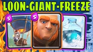 NUMBER 1 PLAYER :: PRO TIPS! :: Giant, Loon, Freeze Deck Guide in Clash Royale
