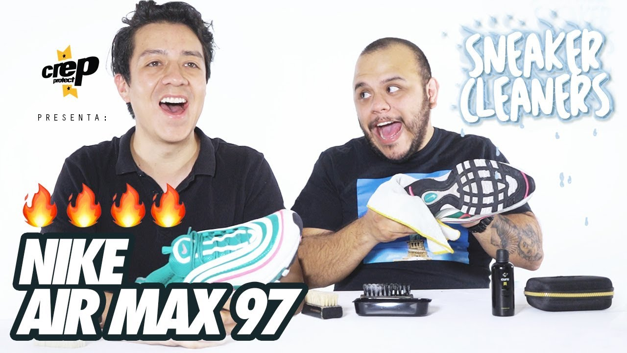 porcelana Guión Recuperar  Como limpiar sneakers Nike Air Max 97 Shouth Beach I eder emerson - YouTube