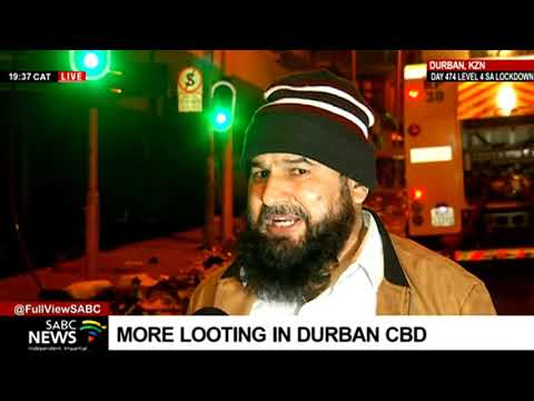 KZN Unrest   Shop owner saddened by looting in the Durban CBD