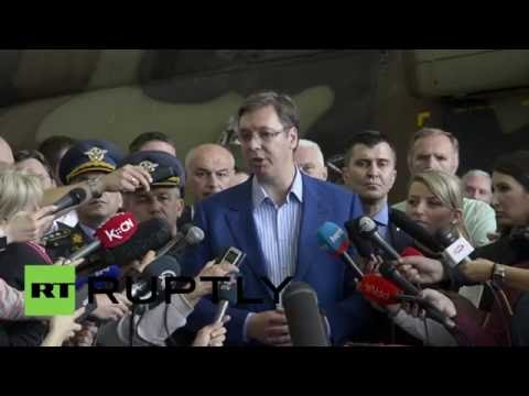 Serbia: PM Vucic oversees handover of two Mi-17V-5 choppers from Russia