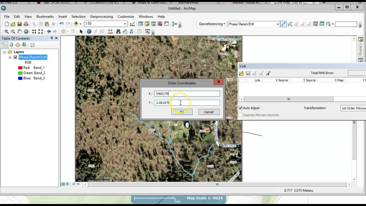 Georeferencing a PDF Map in ArcMap