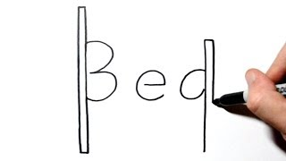 How to Draw a Bed Using the Word Bed