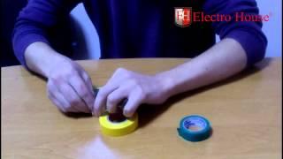 Изолента ПВХ ElectroHouse - тесты и обзор. Испытание изоленты.