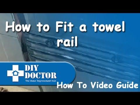 Fitting a heated towel rail