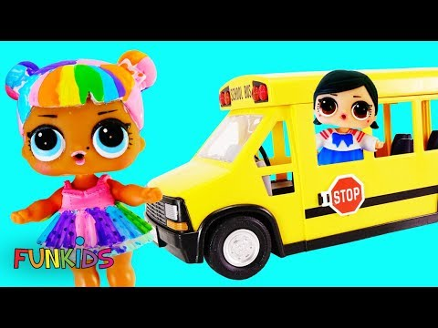 School Bus Girls! LOL Surprise Glam Glitter and Confetti POP Blind Bag