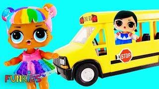 School Bus Girls! LOL Surprise Glam Glitter and Confetti POP Blind Bag