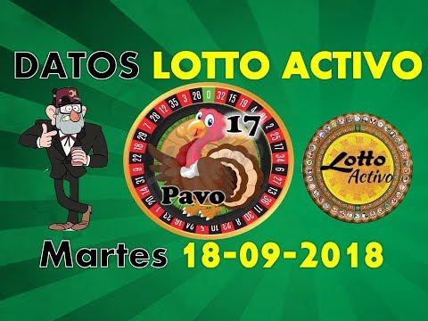 Lotto Activo Datos Fijos 18/09/2018 | Tio Ruletero