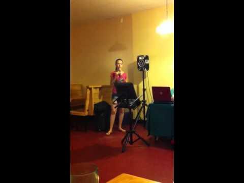 Monica singing Dreams by Stevie Nicks at karaoke