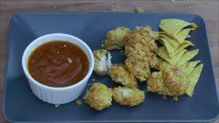 Chicken Nuggets mit Curry-Sauce