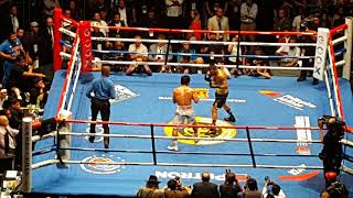 Manny Pacquiao vs Lucas Matthysse TKO actual footage round 7 of 7