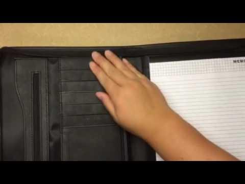 Leather File Folder Padfolio Writing Pad Leather Business Presentation Folder Portfolio