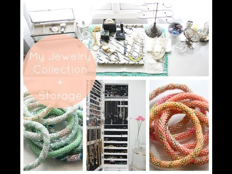 How To Organize Your Jewelry | My Collection + Storage feat. IKEA MALM DESK