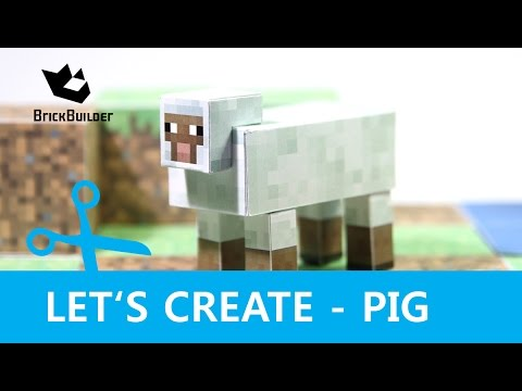 Papercraft Let's Create - Sheep - Minecraft Paper Model with DOWNLOAD LINK