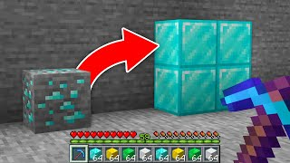 Minecraft, But All Ores Are Blocks...