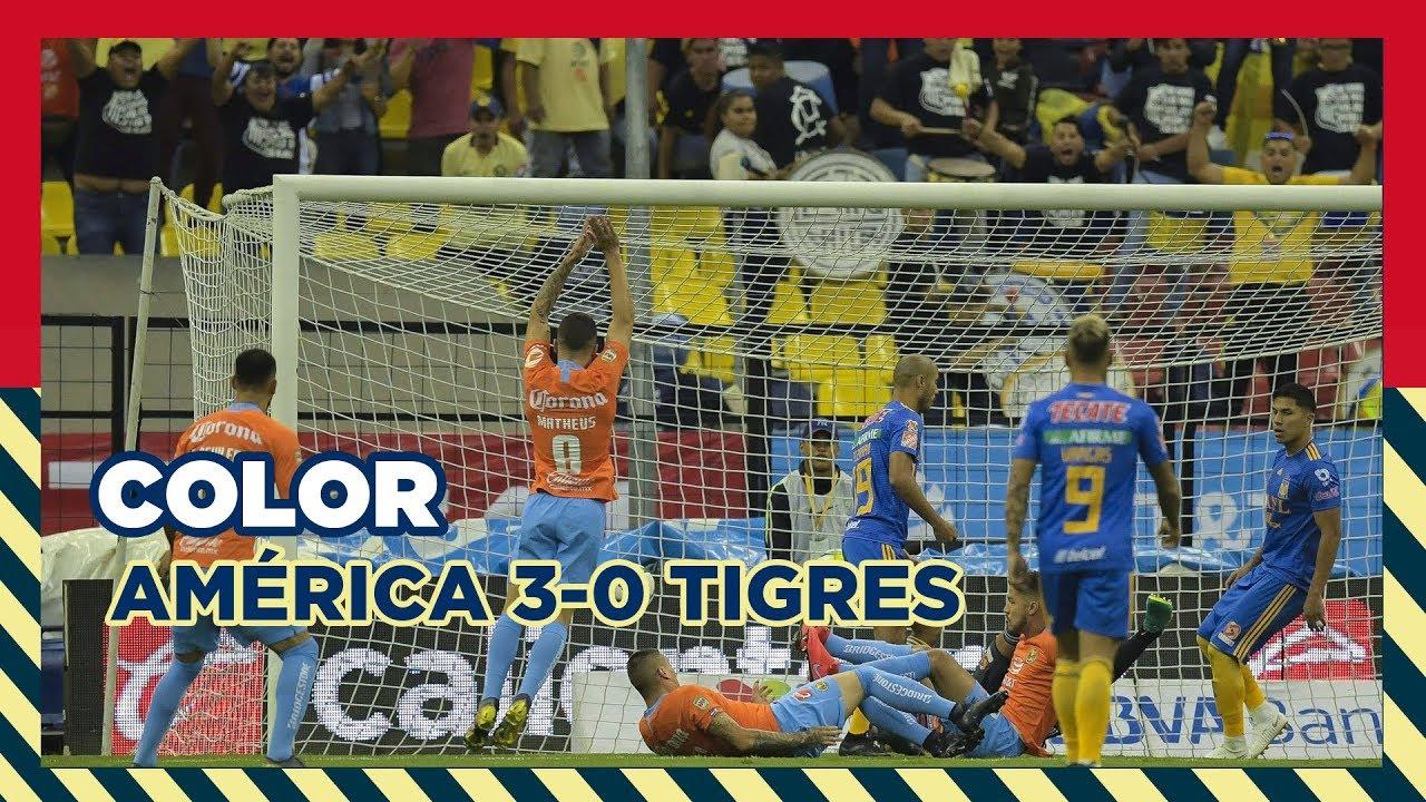 Color América 3 0 Tigres Estadio Azteca Youtube