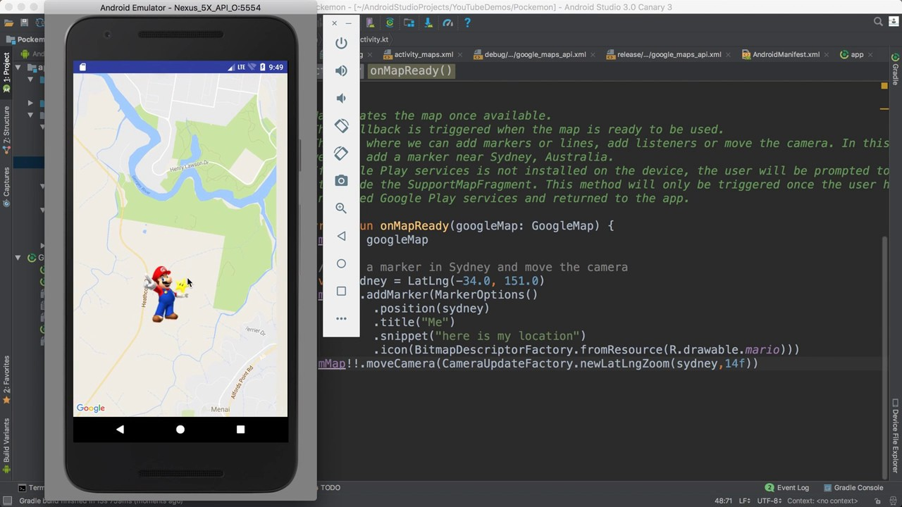 53- Android Pokemon    Add Marker- عرض صورة الاعب على الخريطة