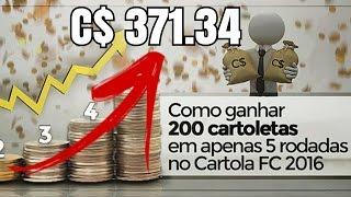 COMO GANHAR CARTOLETAS NO CARTOLA FC 2017 ?