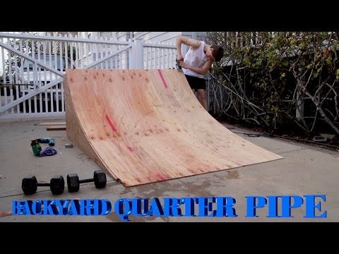 Backyard BMX Quarter Pipe Build