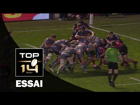 TOP 14 ‐ Essai Hosea GEAR (LOU) – Toulon-Lyon – J18 – Saison 2016/2017
