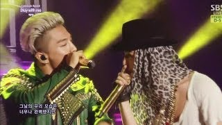 taeyang stay with me feat g dragon 눈 코 입 eyes nose lips 0608 sbs inkigayo comeback