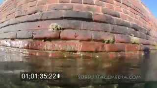 Fort Jefferson brick wall Over and Under Close
