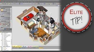 EliteCAD Tips & Tricks - Wizualizacja rzutu pomieszczenia w 3D.