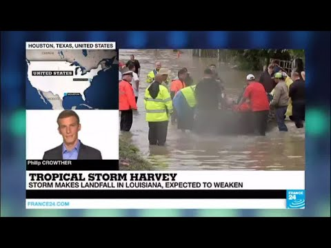 US - Harvey makes landfall in Louisiana 12 years and a day after Katrina hit New Orleans