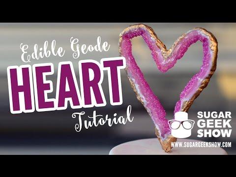 Geode Heart Cake Topper Tutorial