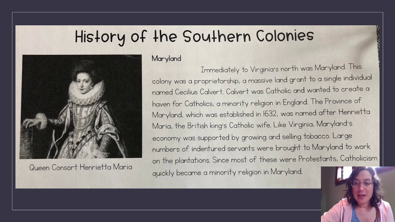13 Colonies Lesson 3: History of The Southern Colonies ...