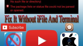 """How To Fix """"var/lib/dpkg..."""" Cydia Error Message - Without Having iFile And Terminal  #2"""