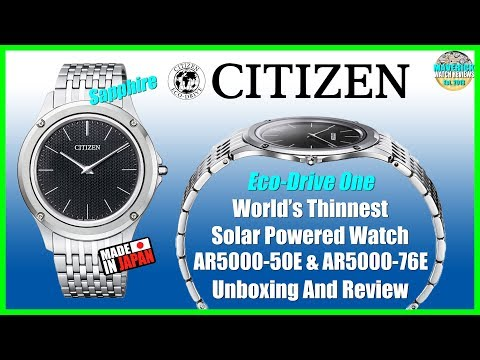 World's Thinnest Solar Powered Watch! | Citizen Eco-Drive One AR5000-50E Unboxing And Review