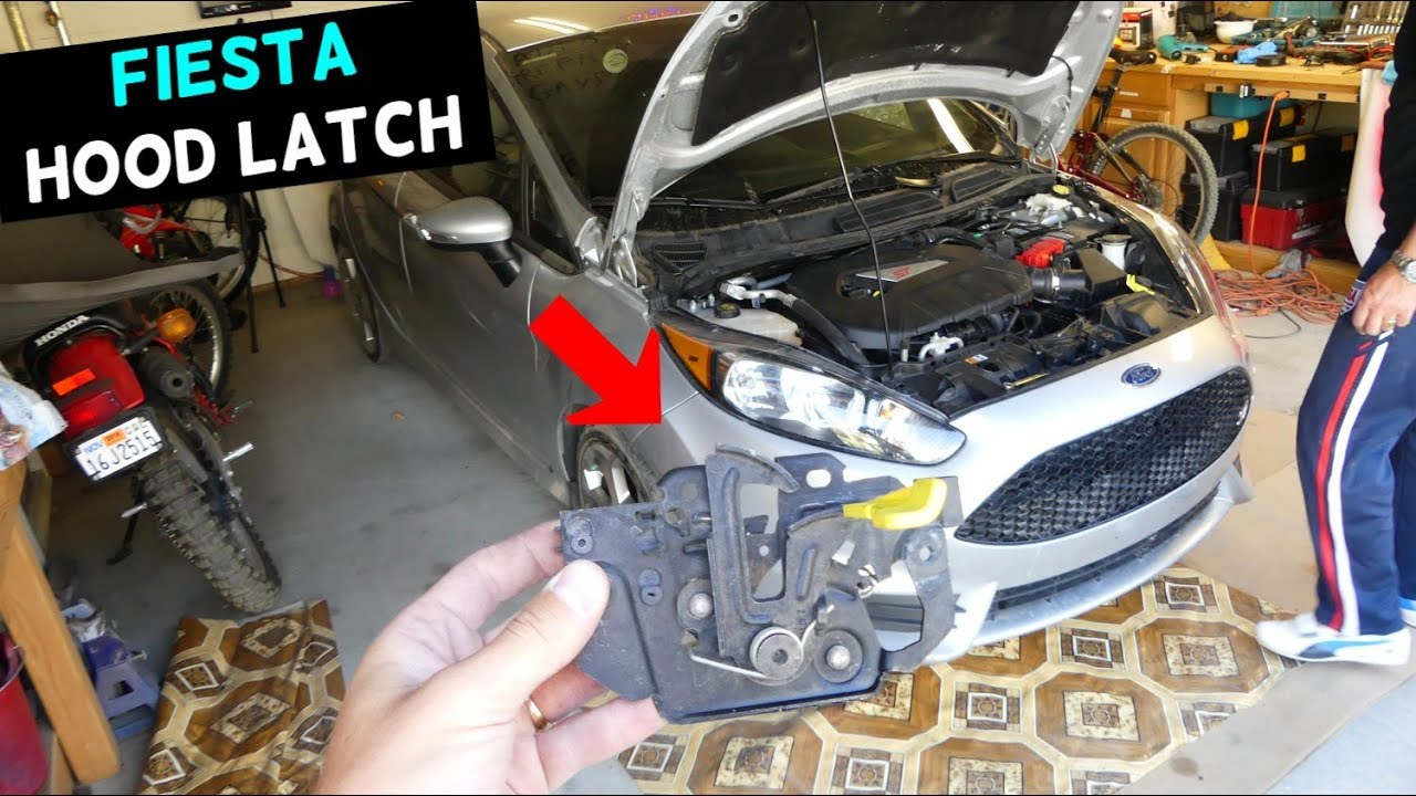 How To Replace Remove Hood Latch Release Lock On Ford