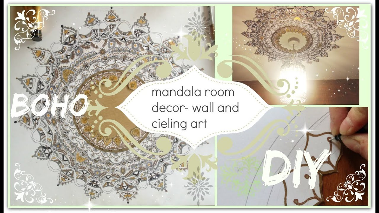 DIY mandala wall ceiling art DECOR boho YouTube