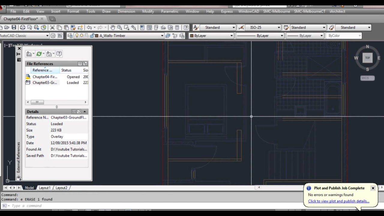 Autocad tutorial how to draw site title boundary youtube.